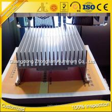 Dissipateur en aluminium de profil en aluminium de radiateur de 6063 T5