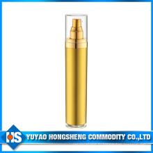 Hs-018 50ml Все бутылочки для безвоздушного распыления Gold Plastic с крышкой из полипропилена