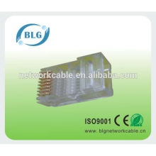 Factory utp 8P8C rj45 connector FU gold plating