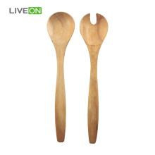 2pcs Solid Acacia Wooden Spoon Set