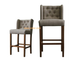 (CL-4403) Luxury Hotel Restaurant Club Furniture Wooden High Barstool Chair