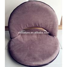 Chaise rembourrée avec dossier réglable, confortable, pliable et polyvalent, pour la méditation, les séminaires, la lecture, la télévision