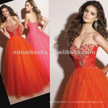 Нью-Йорк-2358 милая декольте бальное юбка пышное платье