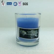 Preço de fábrica boa aparência preço competitivo festa decoração copo de vidro vela