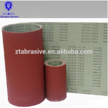 Brown corundum belts Flexible abrasive cloth backing narrow abrasive belt gxk56