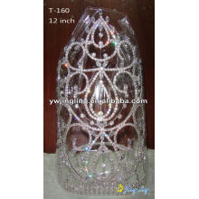 Big rhinestone pageant crowns for sale
