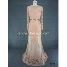 Noble Illusion Beaded Long Sleeve Wedding Dress