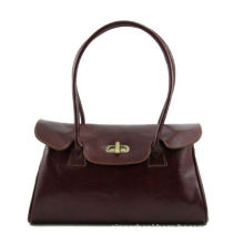 Unique Ladies Leather Business Women S Tote Bags Brown , Cotton Lining Inside