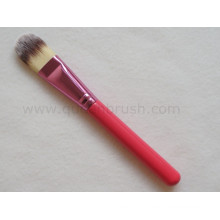 Red Handle Nylon Hair Foundation Makeup Brush