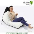 420D Polyester Triangle Shape Indoor Leather Beanbag Chair