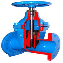 robinet-vanne en fonte ductile avec extension de tige robinet-vanne à tige longue pn16 ggg50