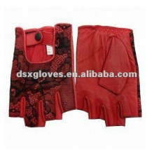 Lace Leather Dress Glove in short style