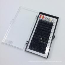 Large Munufacturer Private Label 0.10 14mm B curl 12 líneas extensiones de pestañas individuales