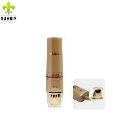Cosméticos del tubo del marrón 30g PE que empaquetan el plástico para la crema de la protección solar
