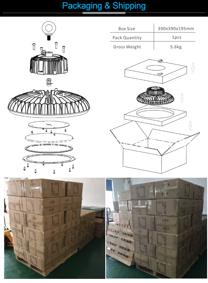 Die Casting Aluminum High Bay Led Lighting
