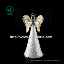 Angle de verre tenant le coeur pour la décoration intérieure par BV, SGS (dia 8cm h: 16.5cm)