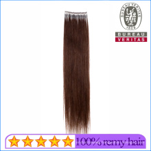 Human Virgin Remy Hair 18inch All Colors Single Thread Knot Ring Hair Extension