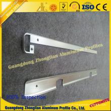 Perfil de alumínio com perfuração de perfuração de perfuração que processa o CNC profundo