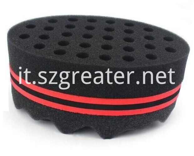 twist hair brush sponge