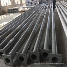 Poteaux en métal galvanisés par Q235 pour allumer, prix rond en acier de poteau pour le poteau extérieur de 12m