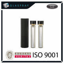 20ml Shiny Black Refillable Twist and Spray Perfume Bottle