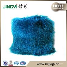 Wholesale Tibétain mongol agneau peau de fourrure Housse de coussin