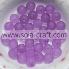 Good Acrylic Material Purple 8MM Fashion Polish Finish Round Handmade Beads