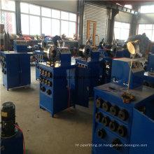 A máquina de friso trançada da mangueira trançada do fio de aço do ISO 1 / 8-2 Ce ′ 4sp automático com ferramenta da mudança rápida
