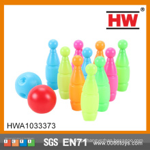 High Quality 12CM Kids plástico brinquedo Ten Pin Bowling