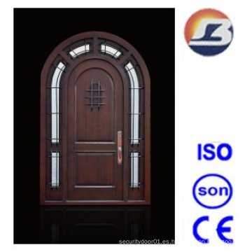 Puerta de madera sólida Meranti de diseño especial