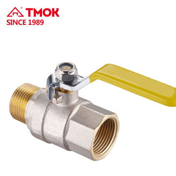 1/2 Brass Ball Valve With Male Thread 1/2 inch Ball Valve Full-Port in High Quality