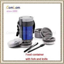 Recipiente de alimento com garfo e faca (CL1C-J200L)
