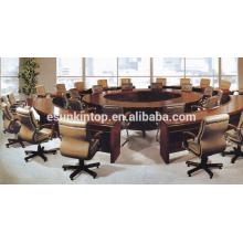 Conjunto de mesa de conferencia de oficina redonda, muebles de oficina personalizados para ir (D-891)