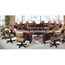 Conjunto de mesa de conferência de mesa redonda, mobiliário de escritório personalizado para ir (D-891)