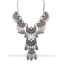 Western trending hot products accessories for women vintage silver necklace
