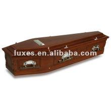 Papel caixão de madeira do folheado