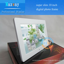 10 pouces résolution 800 * 480 le cadre photo numérique le moins cher