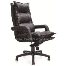 Chaise exécutive moderne en cuir véritable en cuir véritable (HF-CH102)