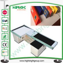 Caisse transparente en plastique de caissier