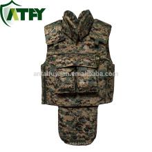 Chaleco antibalas de protección completa de peso ligero armadura del ejército