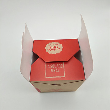 Wydrukowano 32oz Take Take Brown Kraft Noodle Box