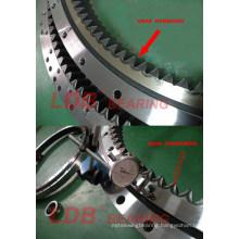 Excavator Doosan Dx140W Slewing Ring, Swing Circle, Slewing Bearing