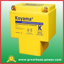 Batterie de moteur à haute capacité 19ah 12V (KB16A)
