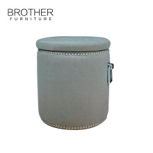 Hotel living room upholstery ottoman furniture stool round ottoman
