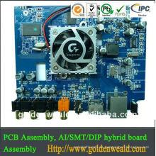 conjunto de PCB de ensamblaje de pcb sin plomo SMT y ensamblado de pcb de giro rápido de controlador de luz LED de DIP