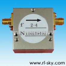 Isoladores de faixa larga do conjunto do Waveguide 50W do isolador da isolação 50w do diodo emissor de luz 2-4GHz rf