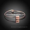 Chine Bracelet en gros de mode de mode, bracelet en alliage de haute qualité de femmes pour la fête des mères