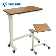 SKH201-4 Hospital Adjustable Bedside Table With Wheels