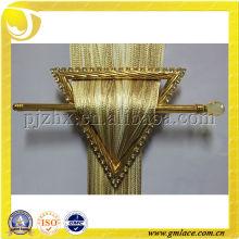 Oro Amarillo Plástico Metal Clip Holder Hebilla Con Recortado Diseño Para La Cortina De La Ventana