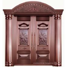 Puerta principal de alta calidad de lujo del chalet del cobre del 100%